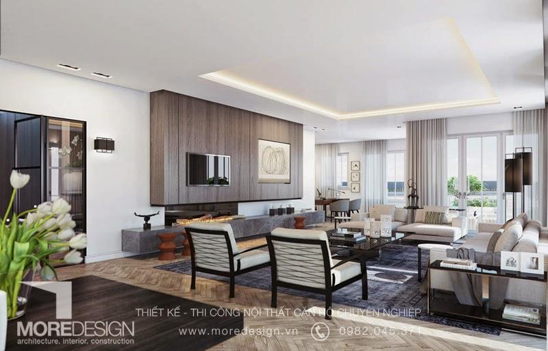 Thiết kế nội thất căn hộ penthouse cao cấp