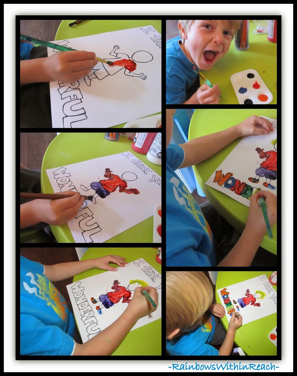 Preschool Personalized Tshirt Painting via RainbowsWithinReach