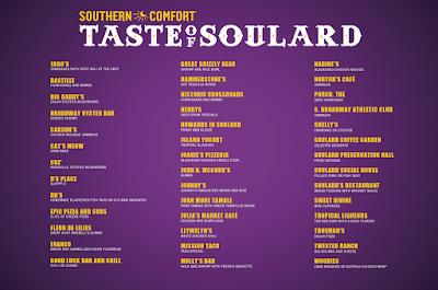 2016 Taste of Soulard menu