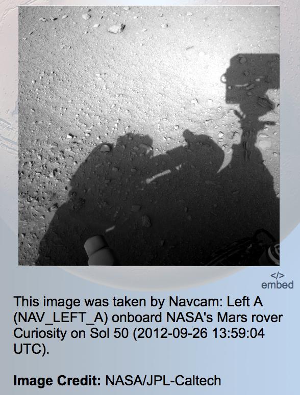 Human Shadow Seen In Mars Rover Photo, UFO Sighting News