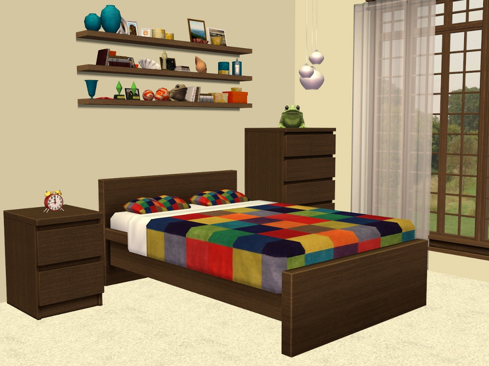 TheNinthWaveSims: Sims 2 - IKEA - MALM Bedroom Furniture Recolours