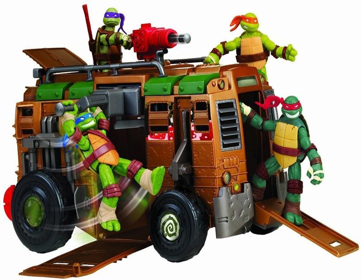 TOYS - LAS TORTUGAS NINJA - Furgoneta Shell Raiser  Juguete oficial TMNT - Teenage Mutant Ninja Turtles  A partir de 4 años