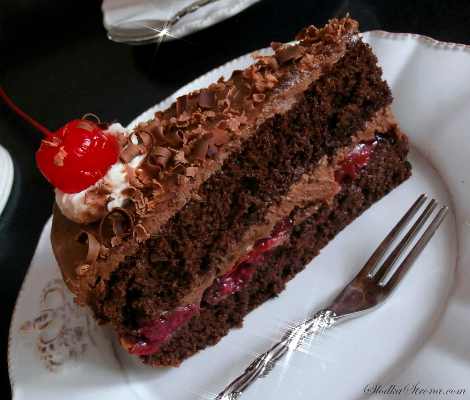 Tort Czekoladowo Wiśniowy