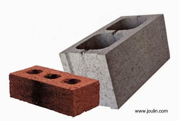 Piezas de material de construcción de viviendas