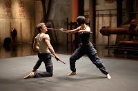 Charlie Hunnam and Rinko Kikuchi fight in Pacific Rim