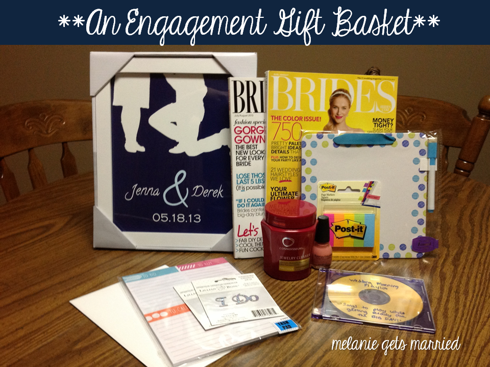 Making It In The Mitten: Engagement Gift Basket