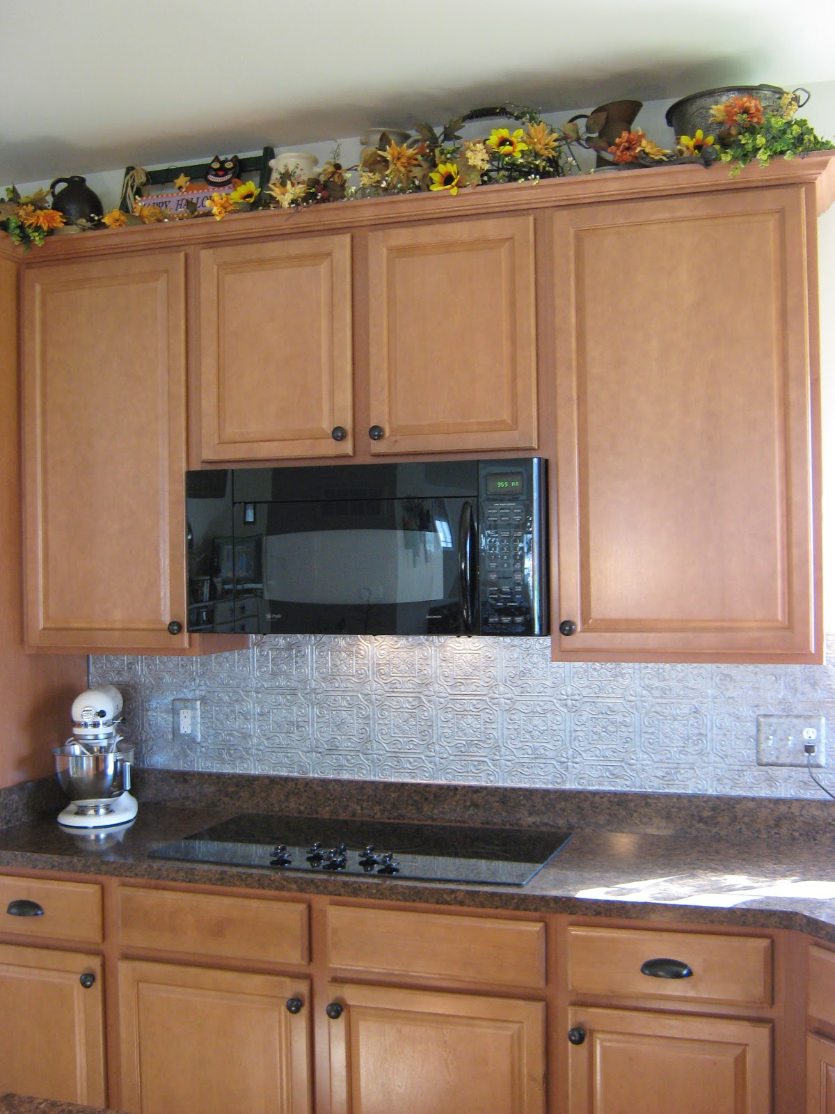 Fake it frugal: fake punched tin backsplash