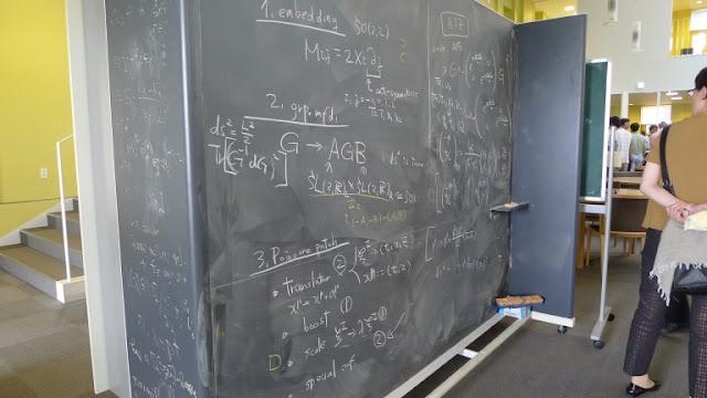 でかい黒板