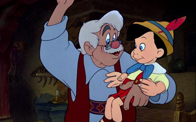 Pinokio menjadi anak laki-laki