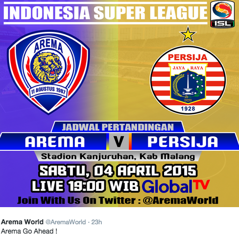 Arema vs Persija QNB League ISL 2015