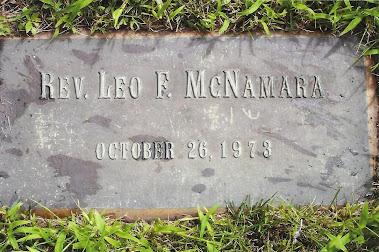 Father McNamara's grave site