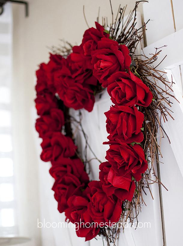 valentine wreath diy blooming homestead. Black Bedroom Furniture Sets. Home Design Ideas
