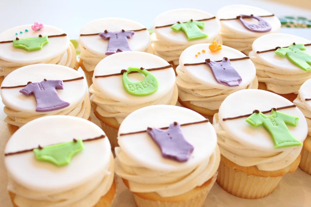 Baby Shower Cupcake Ideas Neutral : Ideias fofas e criativas para cha de bebe Macetes de Mae
