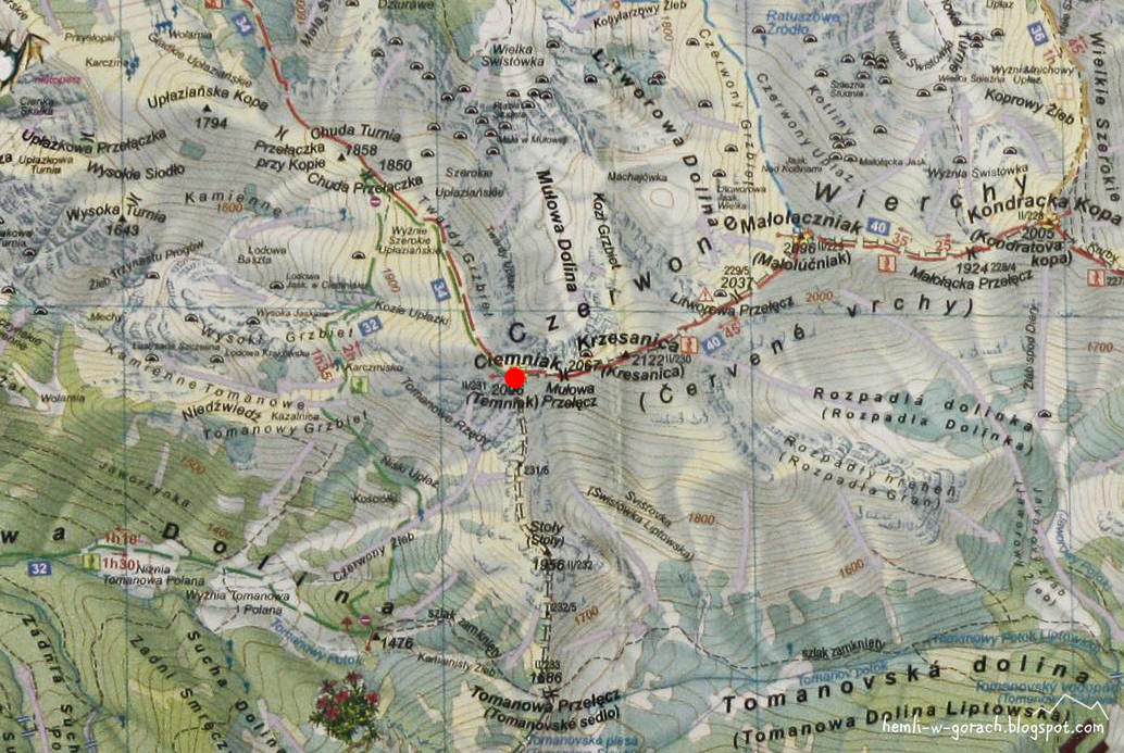 Ciemniak - mapa