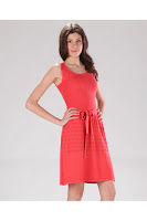 Rochie casual Be You corai tricotata