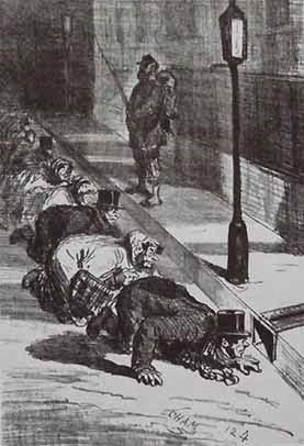 La chasse au dîner (dessin de Cham)