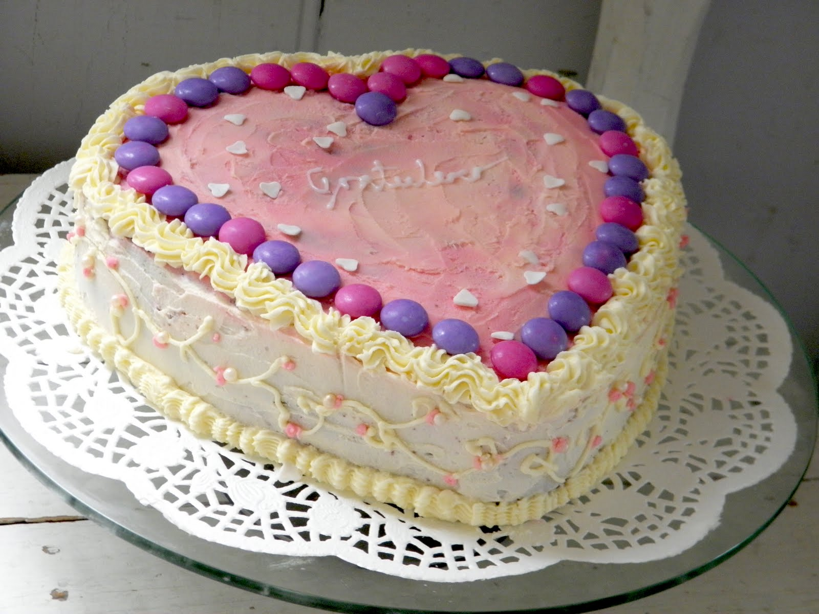 testblog: Chocolate Heart Birthday Cake with Buttercream