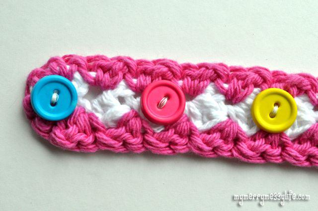 Crochet Seed Stitch Baby Headband {free crochet pattern} - My Merry ...
