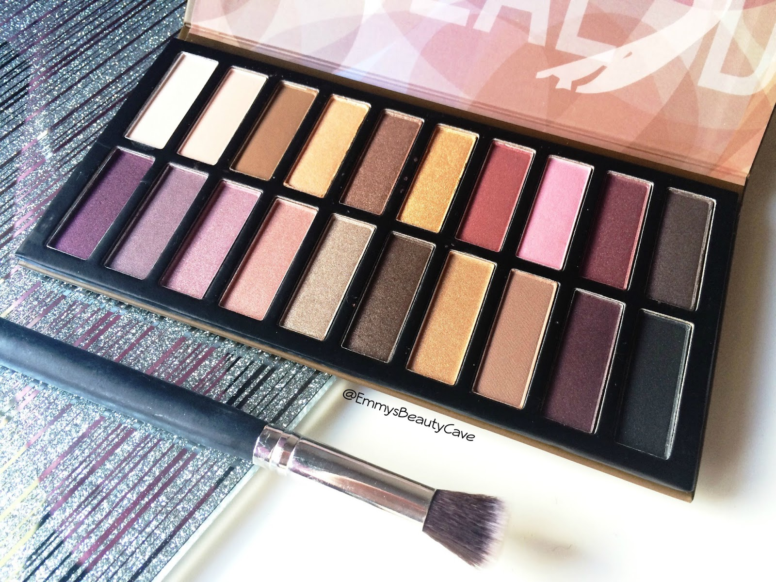 Revealed 3 eye shadow palette review inc swatches for Palette 34