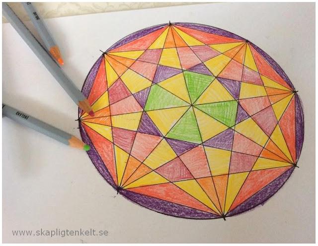 geometri mönster stjärna måla cirkel