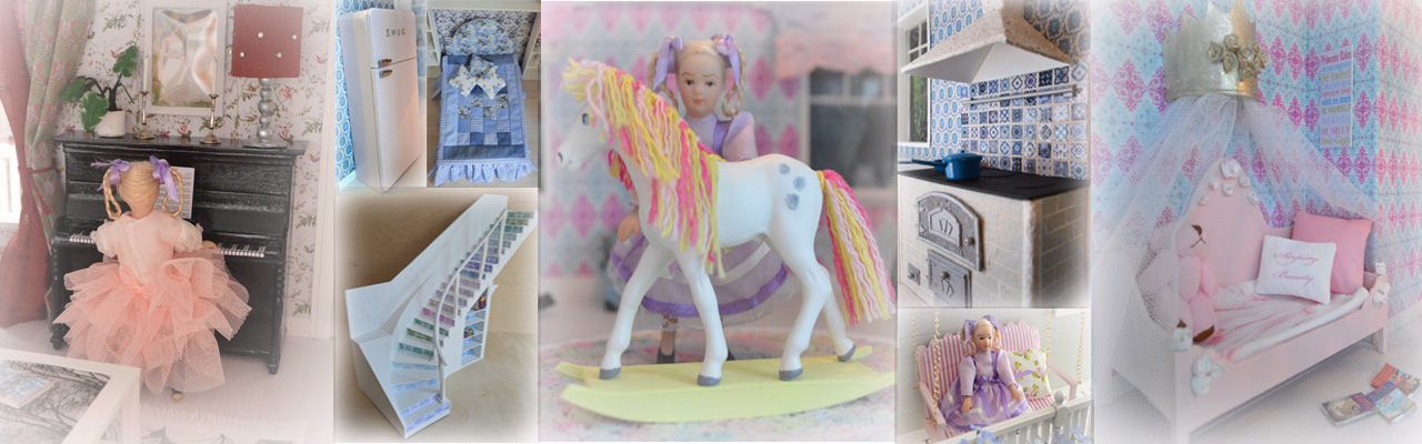 Pikkuprinsessan nukkekoti Willa Helmiina/Dollhouse to my little Princess