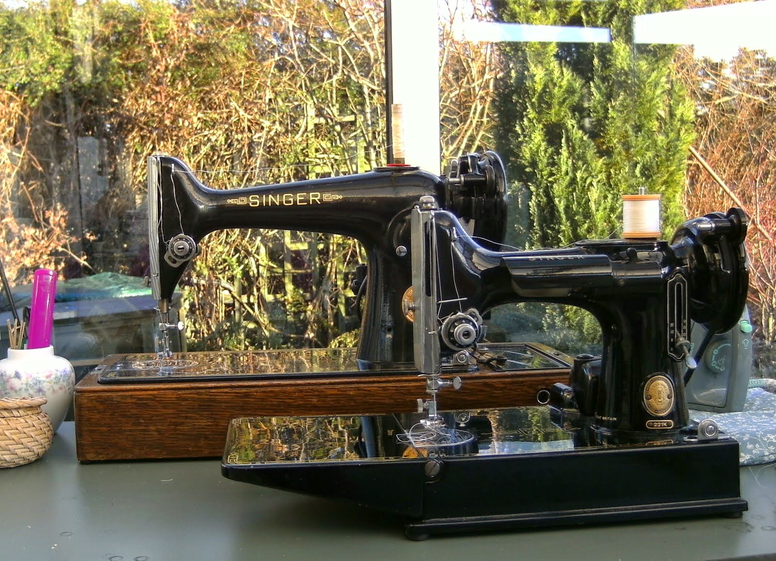 Singer 221 Featherweight and 201