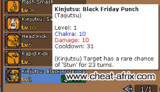Cheat Kinjutsu Black Friday Punch Permanent Ninja Saga