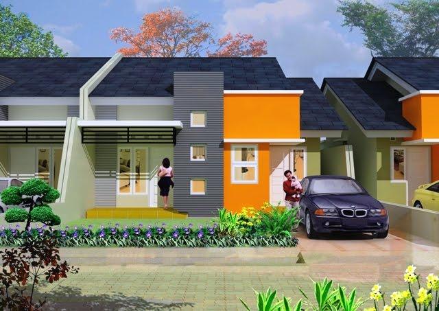 contoh desain rumah 3 rumah minimalis tipe 80 1 lantai
