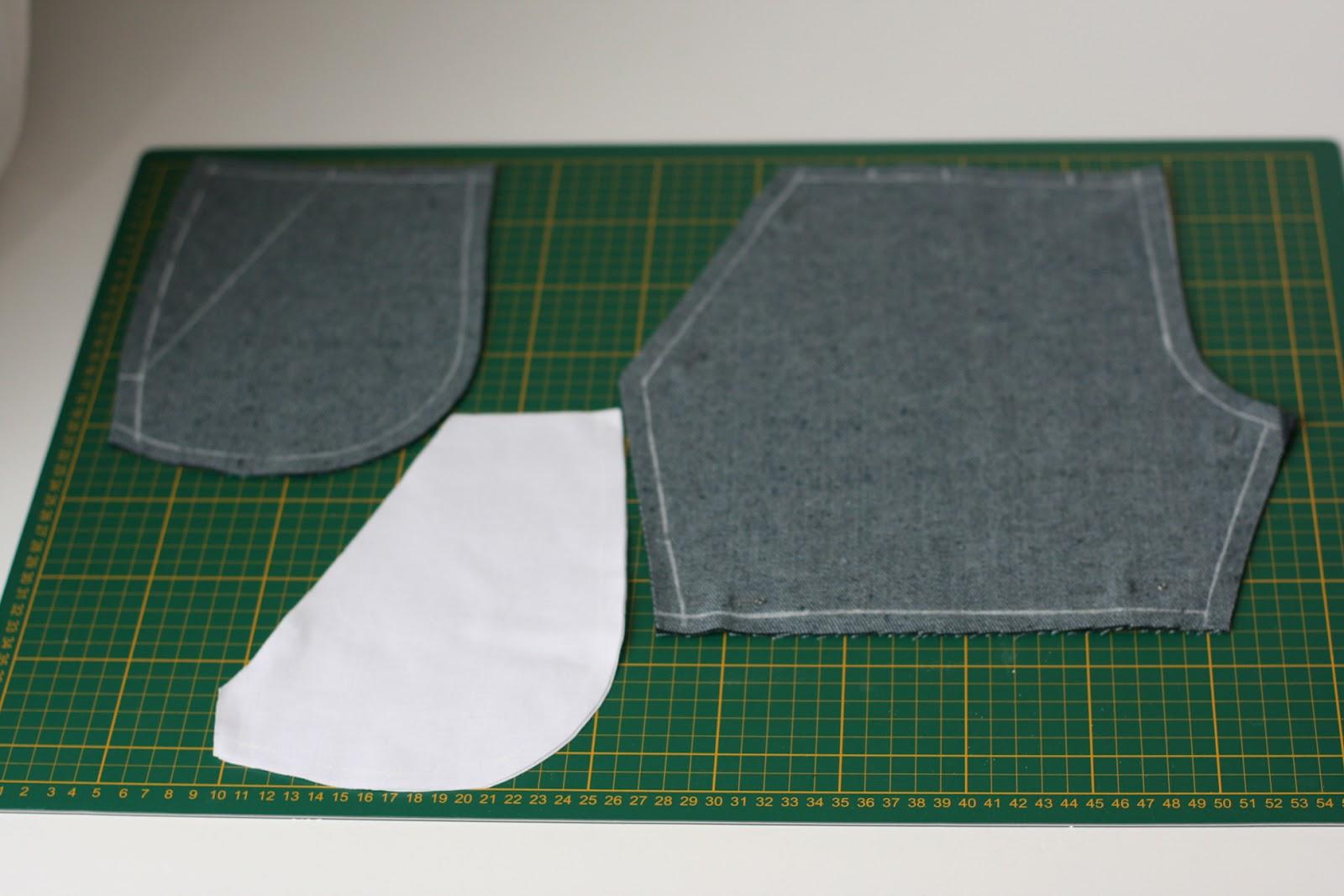 обработка карманов с подрезным бочком схема