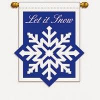 let it snow applique garden flag