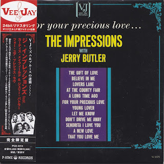 THE IMPRESSIONS with JERRY BUTLER - FOR YOUR PRECIOUS LOVE (VEE-JAY 1963) Jap mastering cardboard sleeve + 6 bonus
