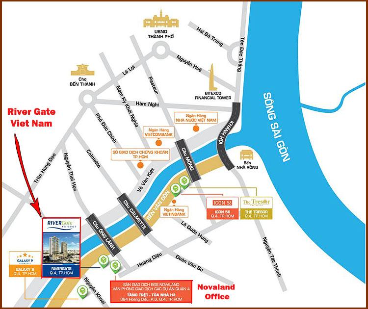 River Gate Vietnam Condo Location