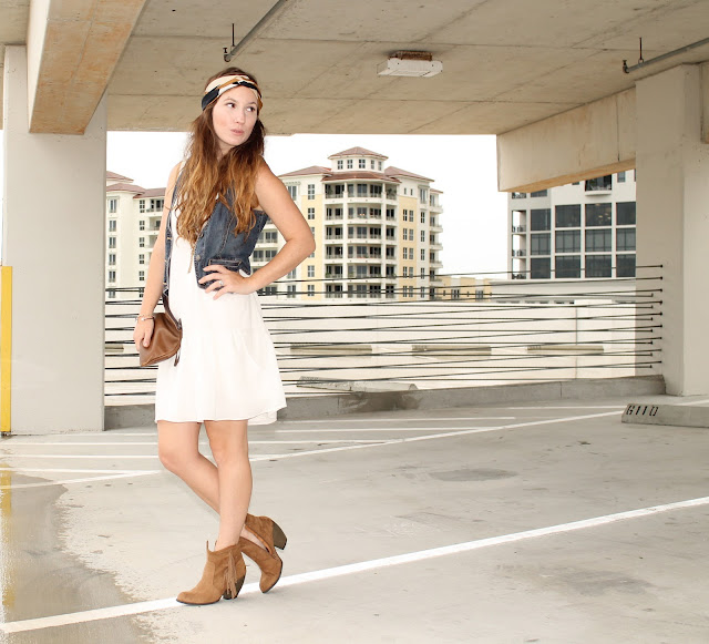 white dress style