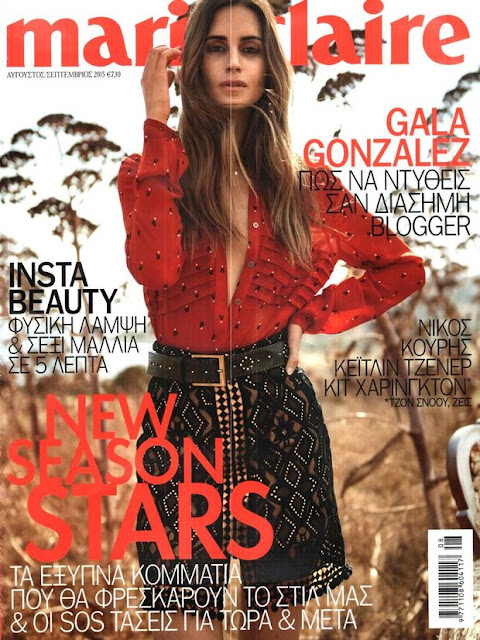 Socialite, Model @ Gala Gonzalez - Marie Claire Greece, September 2015