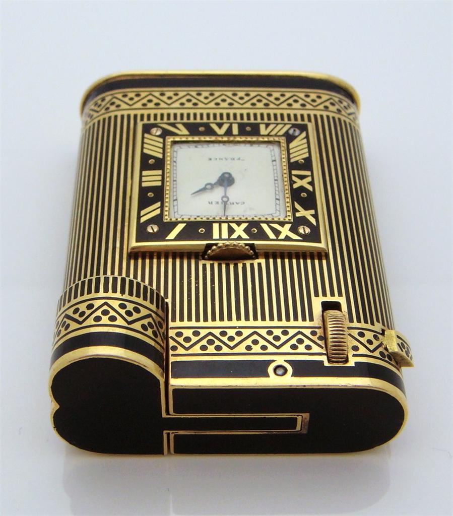 Table lighters collectors guide: eBay: 18K Gold Cartier