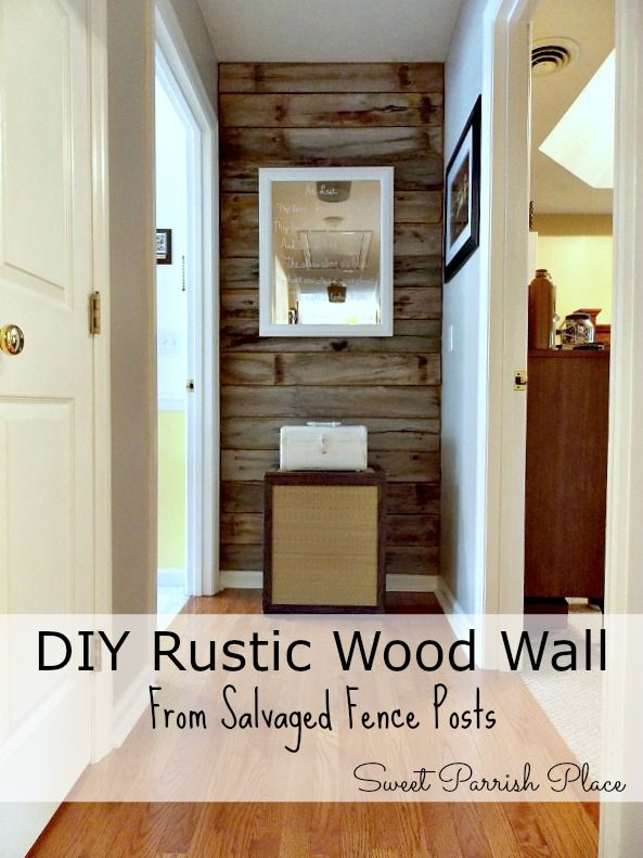 Trashtastic Tuesday Diy Rustic Wood Wall Sweet Parrish Place