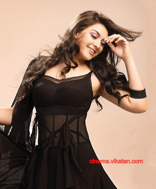 Hansika Motwani in black dress1 -  Hansika Motwani Latest Hot Photoshoot Pics - 2012