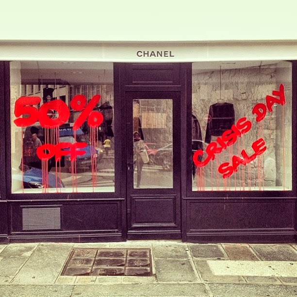 """Crisis Day Sale"" New Attack By Kidult On The Chanel Store In Paris, France. 3"