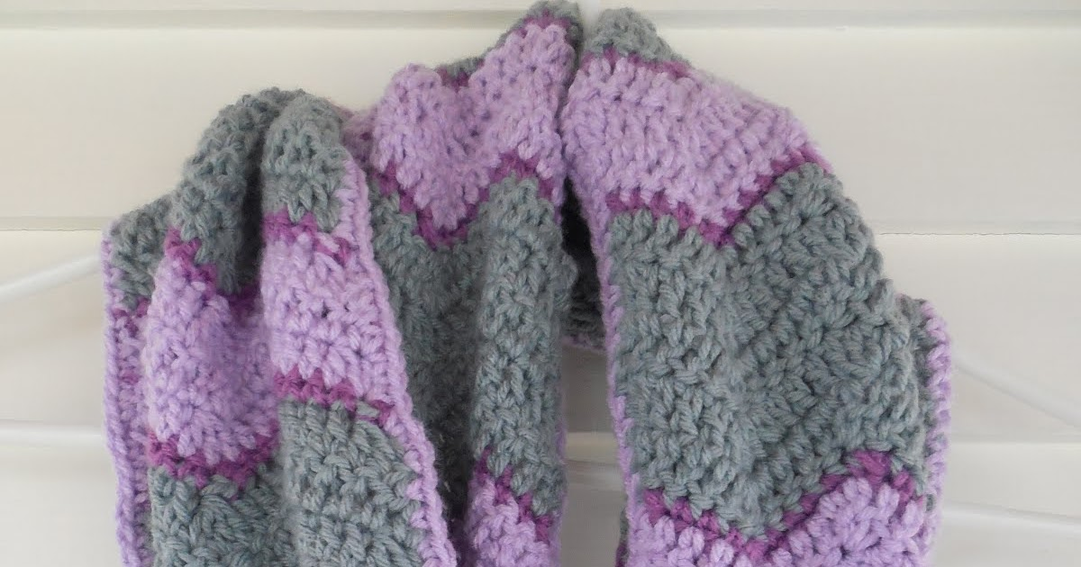 Crochet Scarf Patterns Q Hook : Britteny Off the HOOK!!: Chevron Infinity Scarf Crochet ...