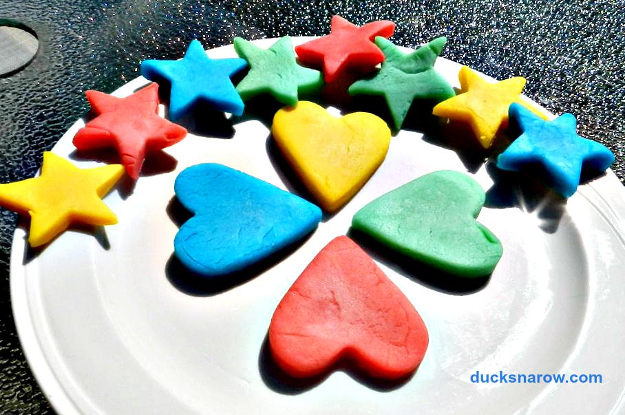 homemade playdough shapes using cookie cutters #playdough #playdoh