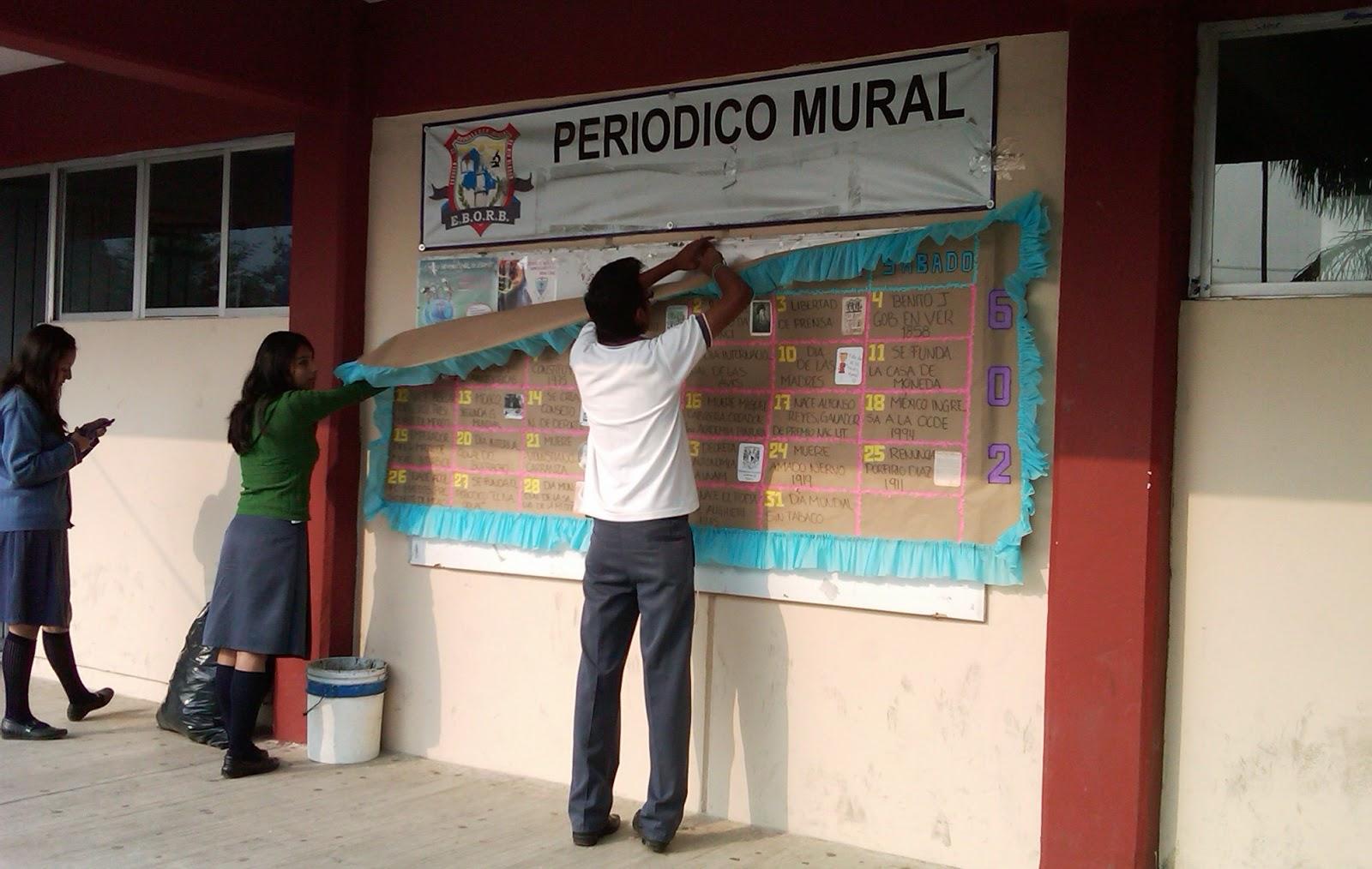 Escuela de bachilleres oficial de rio blanco periodico for El mural periodico