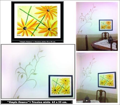 """Simple Flowers""- Vista en pared"