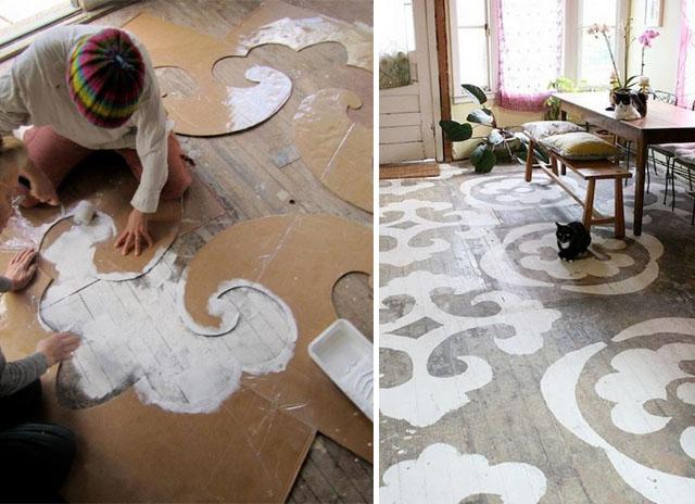 stencil pour parquet