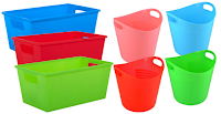 Dollar Tree plastic storage bins