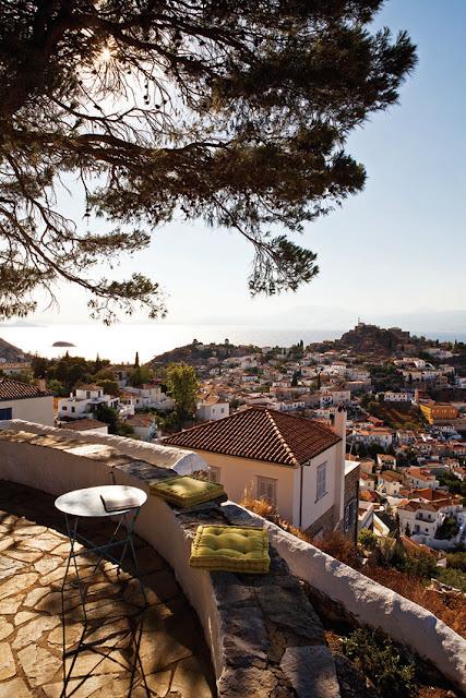 Urlaub, Griechenland, Terrasse, Minimalismus, Wohnen