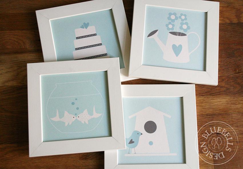 Bluebells design marzo marzo pazzerello for Cornici piccole bianche