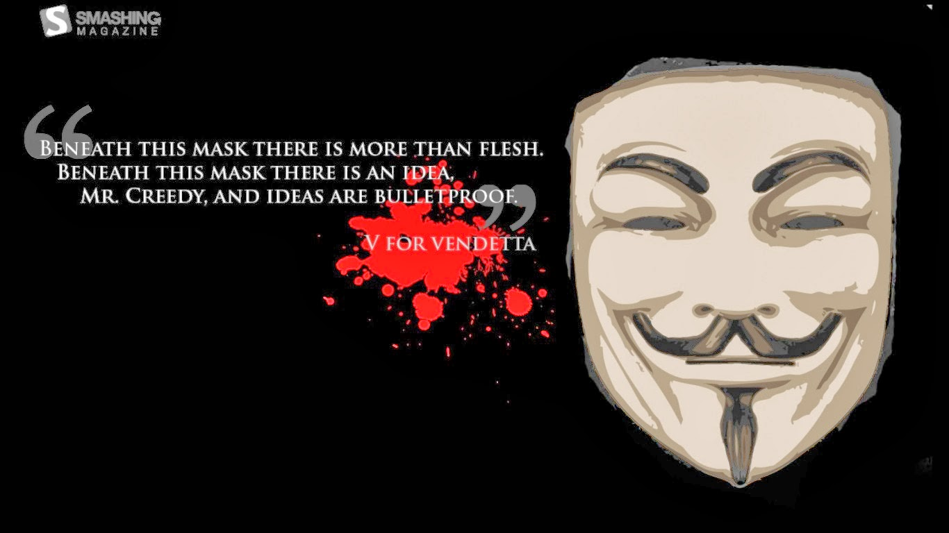 V For Vendetta Mask Wallpaper Quotes