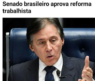 REFORMA TRABALHISTA APROVADA