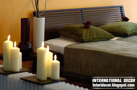 candles for bedroom, warm bedroom interior