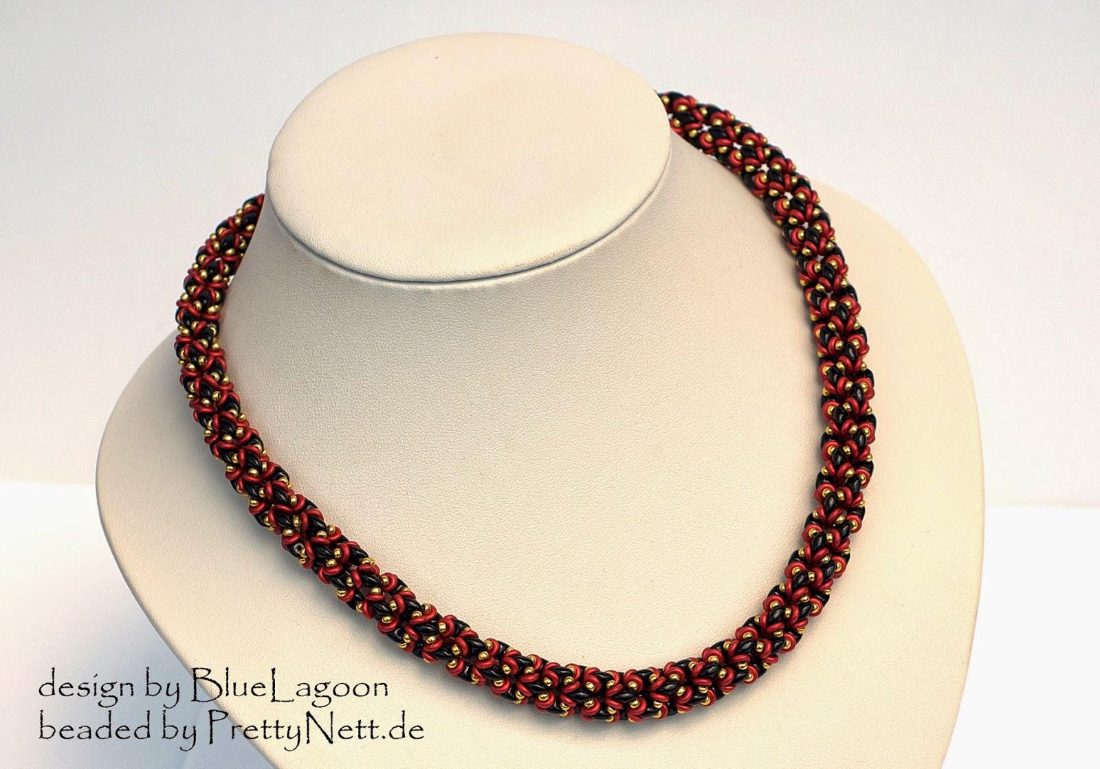 Necklace NetO beaded by PrettyNett